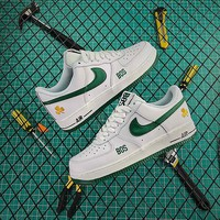 """Nike Air Force 1 Low '07 LV8""""Celts BOS""""White &green& gold Best Goods"""