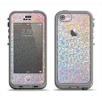 The Colorful Confetti Glitter Sparkle Apple iPhone 5c LifeProof Nuud Case Skin Set