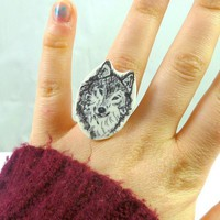 Wolf Ring - Bows Jewellery