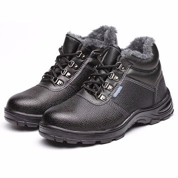 Men Big Size Winter Warm Wearproof Lace Up Hiking Sport Boots