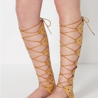 Nude Cut-Out Gladiator Sandal