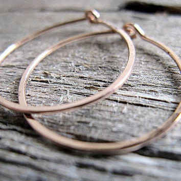 Hoop Earrings 14k Rose Gold Fill 1inch
