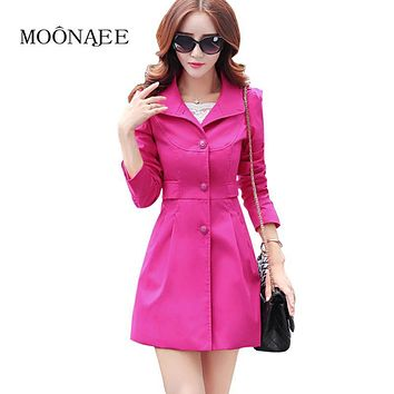 High Quality Spring Women's Trench Coat Female Fashion Long Sheath windbreaker women Career windcheater Raincoat QY13030618