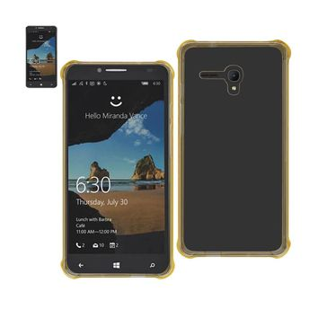 New Mirror Effect Case With Protection In Clear Gold For Alcatel One Touch Fierce XL