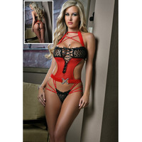 On Sale Hot Deal Cute Summer Sexy Cup Lace Diamonds Hollow Out Sleepwear Exotic Lingerie [6596856963]