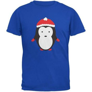 CREYCY8 Christmas Cute Penguin Royal Youth T-Shirt