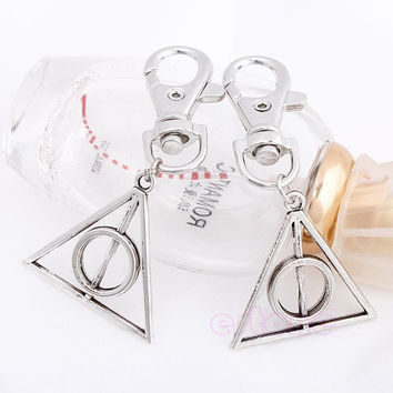 1PC Hot Movie Deathly Hallows Mini Metal Tool Key Chain Keyring For Harry Potter