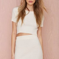 Knitz by For Love and Lemons Snuggler Ribbed Skirt