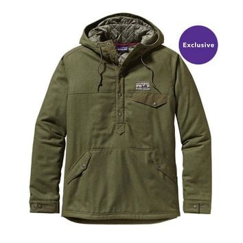Patagonia Men's Reclaimed Wool Snap-T Pullover | Fatigue Green