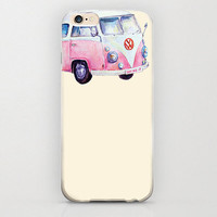 Volkswagen Vanagon Phone Case Pink and Bige iPhone 6 Covers and Protective Cases VW Bus Bug and Classic Retro Vanaggon Vintage Lovers Custom