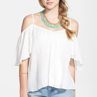 Mimi Chica Cold Shoulder Top (Juniors) (Online Only)