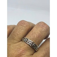Vintage 1970's Celtic 925 Sterling silver  Men's Thumb Ring