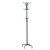 "Silver Metal 74""H Coat Rack"