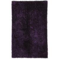 Jaipur Rugs Polyester shag Solid Pattern Purple Polyester Area Rug FL08 (Rectangle)