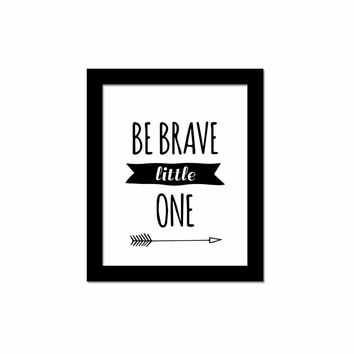 'Be Brave Little One' Canvas Art Print
