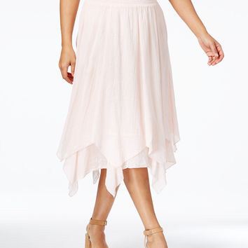 Style & Co Cotton Handkerchief-Hem Skirt, Only at Macy's - Skirts - Women - Macy's