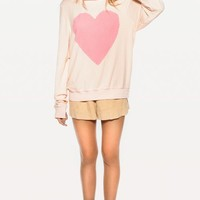 LOVE NOTE BAGGY BEACH JUMPER at Wildfox Couture in  MALL, DIONNE
