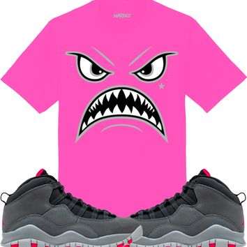 f7ed4bb0326 Jordan 10 Smoke Grey Pink Sneaker Tees Shirt - OREO WARFACE