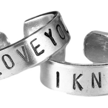 Star Wars, Anniversary gifts for men, I love you I know, Han and Leia, Long distance relationship, Boyfriend girlfriend jewelry, Sister ring