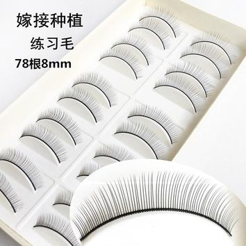 10 Pairs Makeup Handmade Natural Fashion False Eye 3D Strip Lashes Natural Thick Eyelash For Grafting Practice #226241