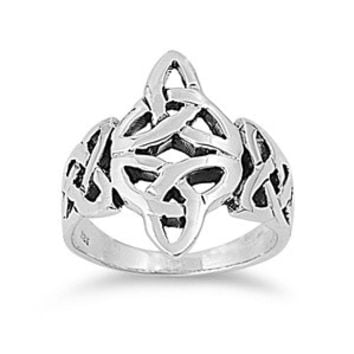 925 Sterling Silver Wicca Grand Celtic Gaelic Triquetra Ring