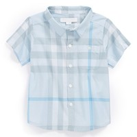 Toddler Boy's Burberry 'Tyson' Check Pattern Woven Shirt