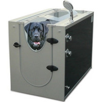 The Canine Shower Stall - Hammacher Schlemmer