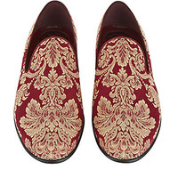 Dolce & Gabbana Filigree Brocade Slipper Shoe