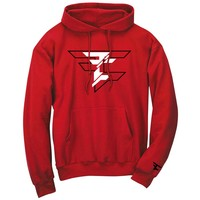 CutUp Hoodie - BlkWht on Red – FaZe Clan