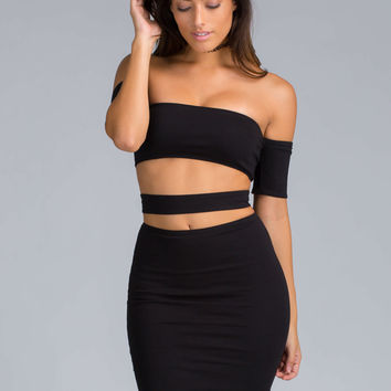Cuffed And Strapped Off-Shoulder Dress