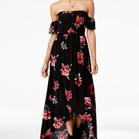American Rag Juniors' Floral-Print High-Low Maxi Dress, Created for Macy's | macys.com
