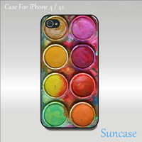 iphone 4 case - watercolor set , iphone 4S case, unique iphone 4 case in plastic or silicone