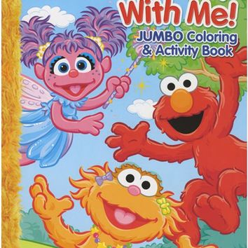 sesame street 123 play with me jumbo coloring & activity book Case of 24