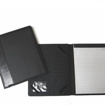 leather-like deluxe portfolio with memo pad Case of 30