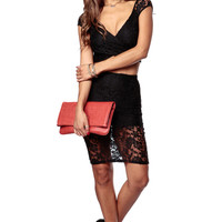 Black Kiki Lace Skirt