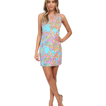 Lilly Pulitzer Gabby Shift Dress Sea Blue Summer Haze - 6pm.com
