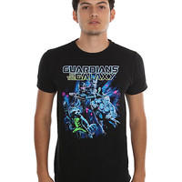 Marvel Guardians Of The Galaxy Epic Poster T-Shirt