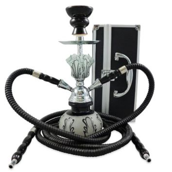 2 Hose Small Hookah Shisha Black Widow Hookah with a Case Modern Nargila with Case