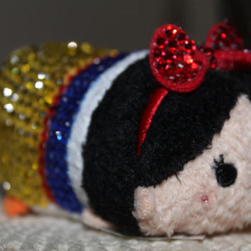 Jeweled Disney Tsum Tsum Snow White Stack Stack bedazzled collectible! UNIQUE!