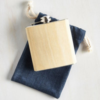 Rustic Wood You Like a Sip? Flask in Plain by ModCloth