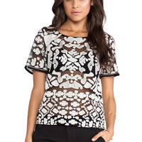Greylin Chloe Embroidered Top in Black from REVOLVEclothing.com