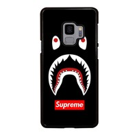 BAPE CAMO SHARK SUPREME BLACK Samsung Galaxy S4 S5 S6 S7 S8 S9 Edge Plus Note 3 4 5 8 Case Cover