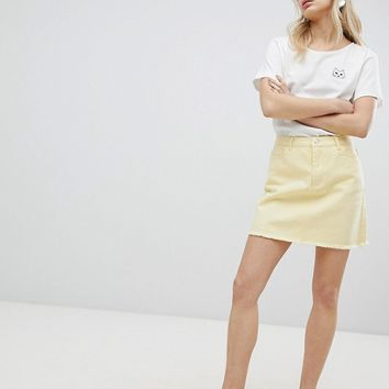 Urban Bliss Distressed Denim Skirt at asos.com
