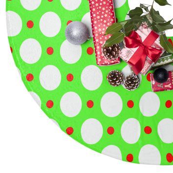Green Red and White Christmas Tree Skirt