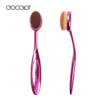 Docolor oval foundation brush Cosmetic toothbrush oval foundation brush makeup brush maquiagem Brush for girls Makeup tools