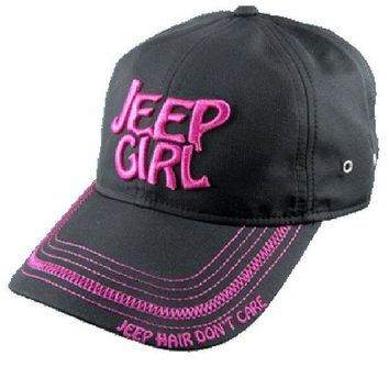 Jeep Girl Black/pink Cap