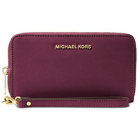 MICHAEL Michael Kors Jet Set Travel Large Flat Multifunction Wallet | macys.com