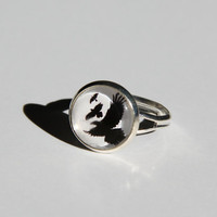 Divergent Birds Sterling Silver Ring