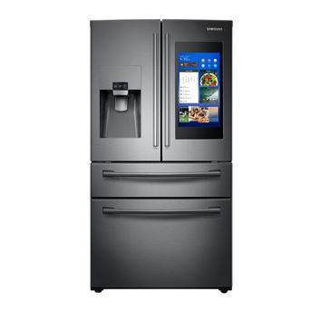 28 cu. ft. 4-Door French Door with 21.5 in. Connected Touch Screen Family Hub™ Refrigerator Refrigerators - RF28NHEDBSG/AA | Samsung US