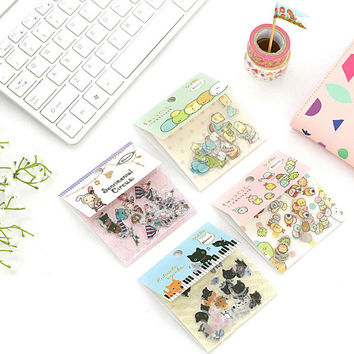 80 pcs pack Cute Sumikko Gurashi Cat Sentimental Circus Stickers Diary Label Stickers Decorative Scrapbooking DIY Stickers